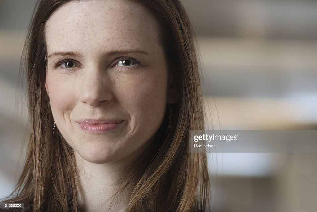 Portrait, 23 year old British woman : Stock Photo