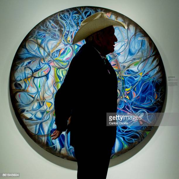 KLEINBURG ON OCTOBER 12 Portrait and installation shots of Alex Janvier a hugely important Indigenous artist whose career retrospective is comign to...