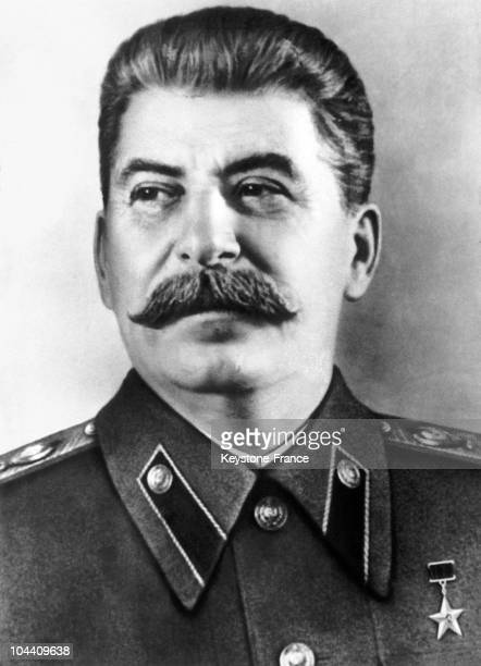 Portrait around 19451050 of STALIN supreme ruler of the URSS at a time when the cult of his personality was at its highest
