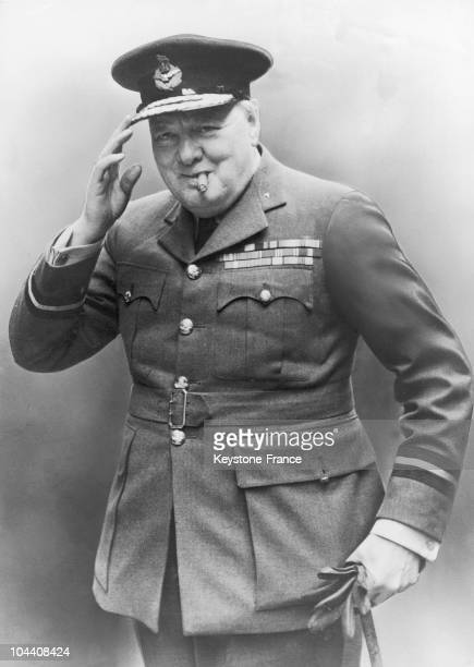 Portrait at the end of January of the British Prime Minister Winston CHURCHILL who just returned from the Casablanca conference