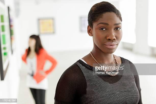 Porträt Schwarze weibliche Künstler