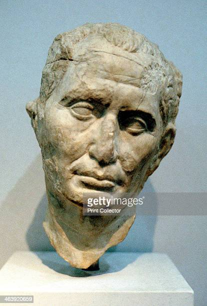 Portrait bust of Julius Caesar Roman soldier and statesman 1st century BC Julius Caesar was one of Rome's most capable generals as demonstrated by...