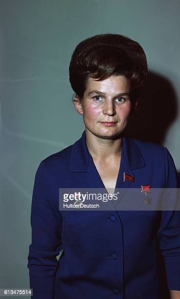 A portrait ca 1965 of cosmonaut Valentina Tereshkova She was the first woman in space completing an earth orbit in 1963