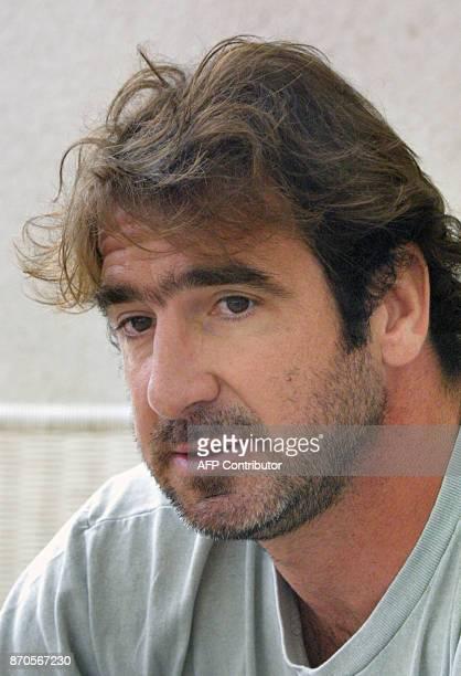 Portrait d' Eric Cantona partenaire de Rachida Brakni dans 'l'Outremangeur' pris le 05 Juin 2003 à Marseille lors de la promotion du film mis en...