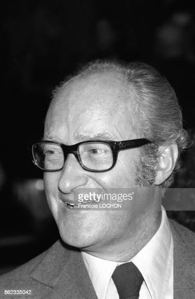 Portrait d'Alain Decaux en octobre 1976 à Paris France