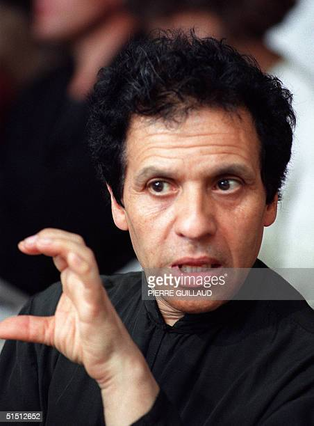 A portrait dated 03 September 1989 of Tunisianborn French fashion designer Azzedine Alaia speaking in Paris