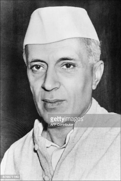 Portrait dated from the 40s of Pandit Jawaharlal Nehru Indian statesman and prime minister He joined the Indian Congress Committeewas influenced by...