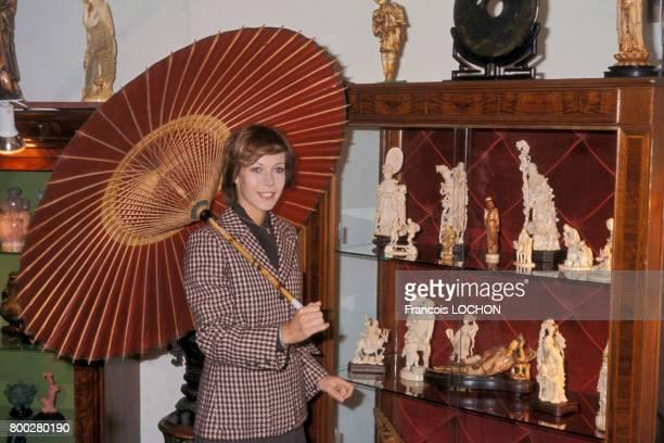 Portrait de Claude Jade actrice circa 1970 en France