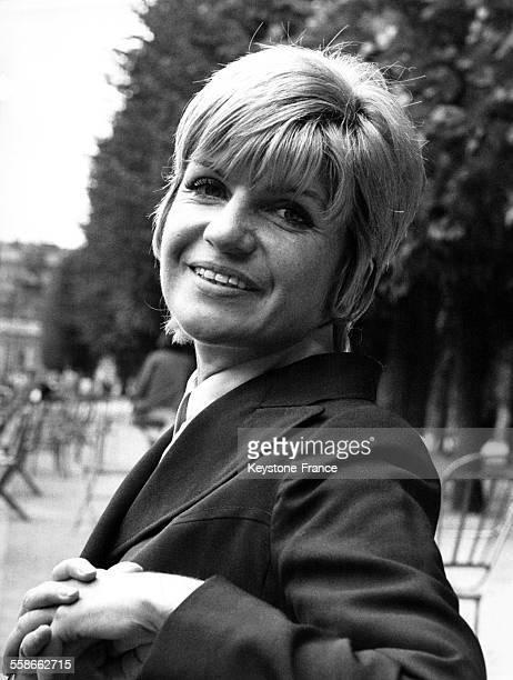 Portrait de Françoise Dorin à Paris France le 4 septembre 1970