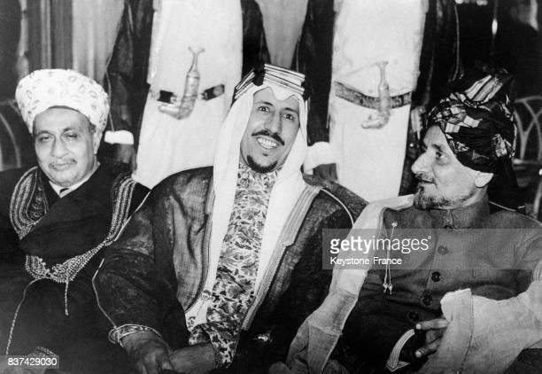 Portrait de Ibn Séoud le fils du roi du Hedjaz et héritier de la couronne