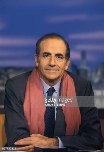 Portrait de JeanPierre Elkabbach le 12 decembre 1993 a Paris France