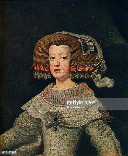 Portrait De La Reine MarieAnne' Queen consort of Spain as the second wife of King Philip IV who was also her maternal uncle Queen Mariana is also...