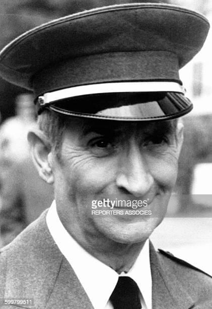 Portrait de l'acteur français Louis de Funès dans le film 'L'aile ou la cuisse' le 28 janvier 1983