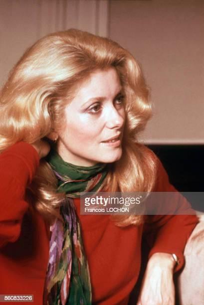 Portrait de l'actrice Catherine Deneuve en mai 1978