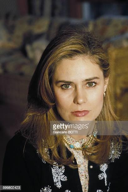 Portrait de l'actrice Corinne Cléry circa 1980 en France