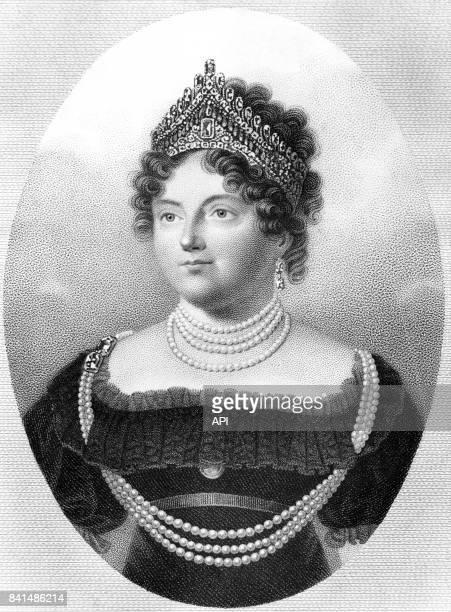 Portrait de l'impératrice Marie Feodorovna de Russie née SophieDorothée de Wurtemberg épouse du tsar Paul Ier