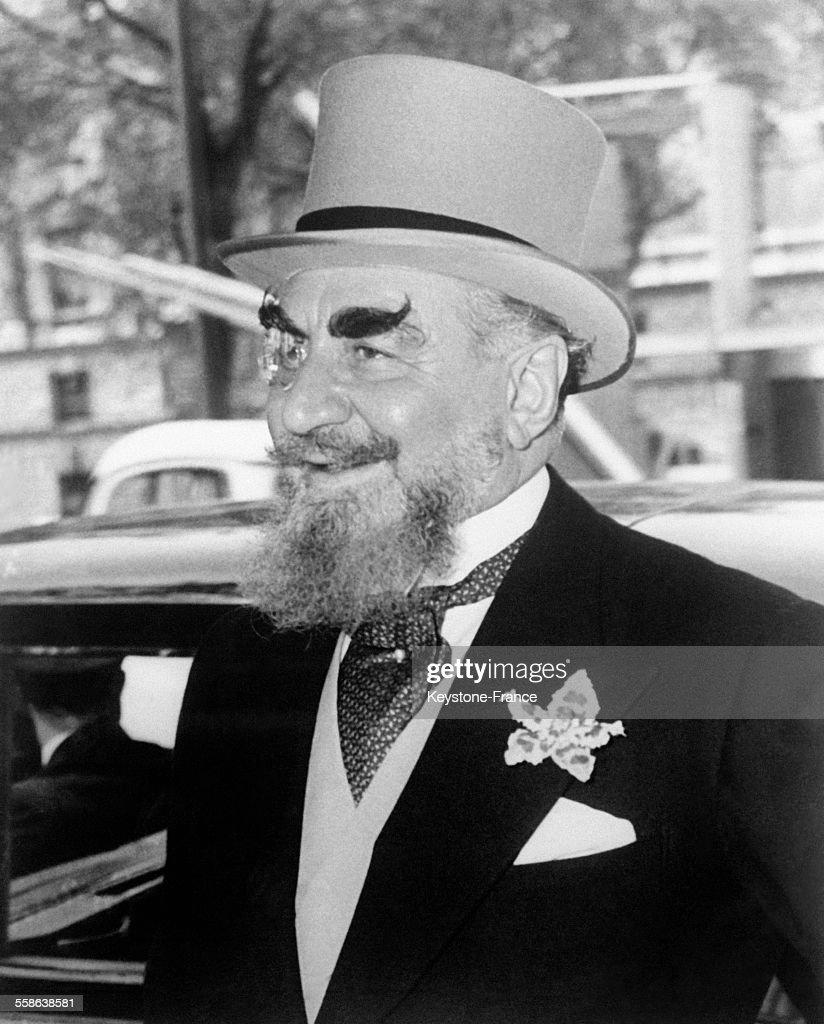 Portrait de Nubar Sarkis Gulbenkian, homme d'affaires arménien, le 24 mai 1956.