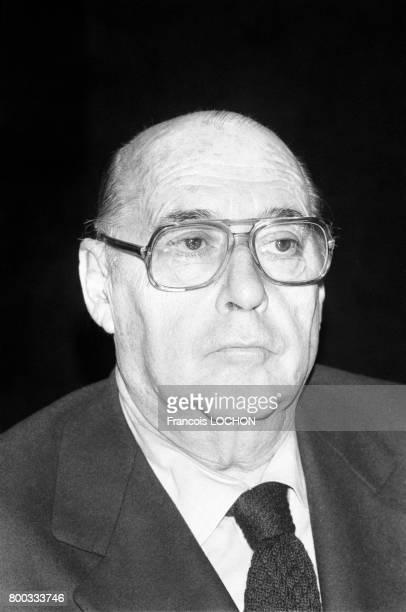 Portrait de Roberto Rossellini réalisateur le 20 février 1976 à Paris France