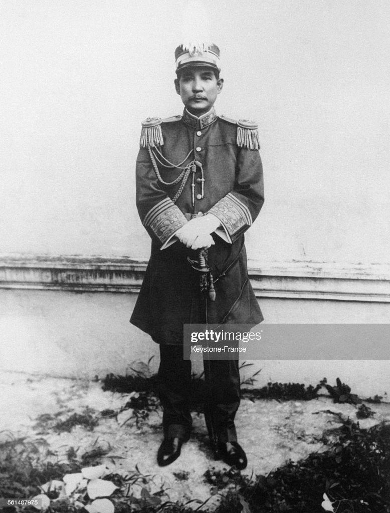Portrait de Sun Yat-sen, Généralissime dans le gouvernement en Chine en 1917.