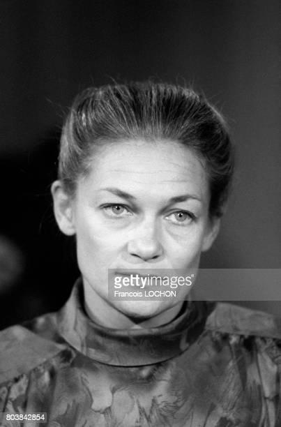 Portrait d'Elisabeth Badinter le 25 avril 1986 à Paris France
