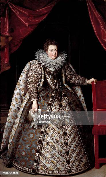 Portrait d'Elisabeth de France wearing a ruff Painting by Frans Pourbus Iithe Younger 1615 Firenze Galleria Palatina