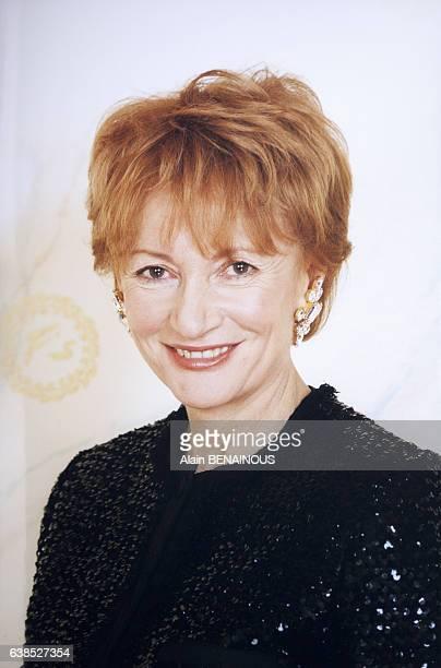 Portrait d'Eve Ruggieri à l'occasion des 100 ans du Fouquet's le 8 novembre 1999 à Paris France
