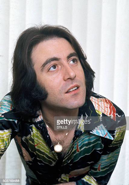 Portrait du chanteur Michel Delpech à Paris France circa 1970