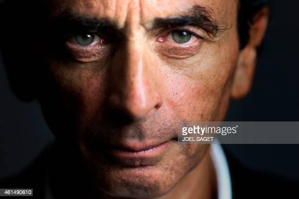 Portrait du journaliste polemiste crivain Eric Zemmour le 12 janvier 2015 au sige du Figaro AFP PHOTO / JOEL SAGET