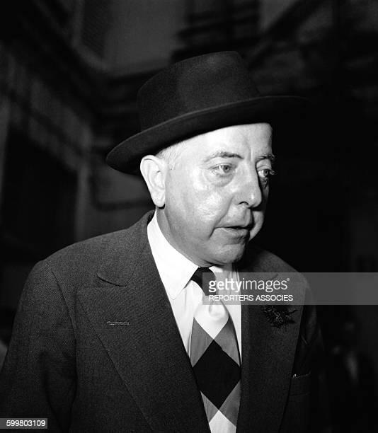 Portrait du poète Jacques Prévert le 31 décembre 1950 à Paris France