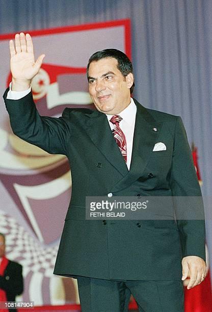 Portrait du Président tunisien Zine ElAbidine Ben Ali pris le 27 juillet 1998 à Tunis