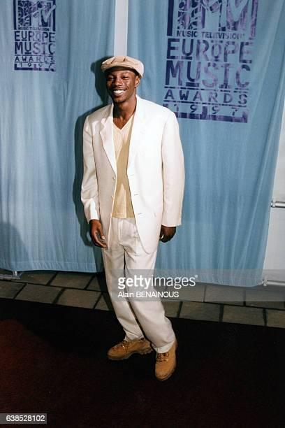 Portrait du rappeur français MC Solaar aux MTV European Award le 6 novembre 1997 à Rotterdam PaysBas