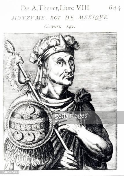Portrait du roi aztèque Moctezuma II