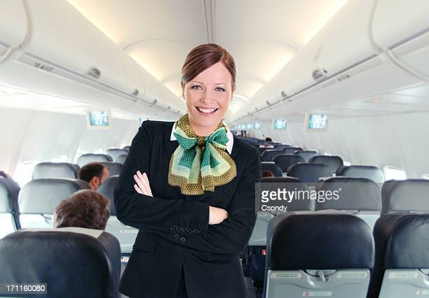 Portrait from a young beautiful flight attendant
