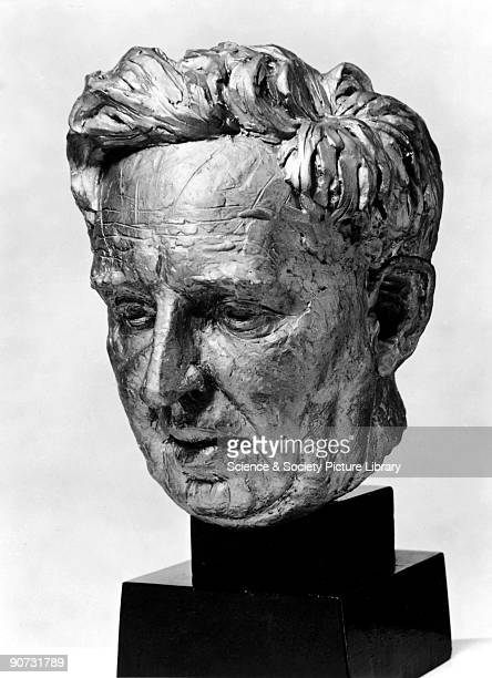 Portrait head modelled from life and cast in plaster by Stephen Rickard of John Desmond Bernal FRS Bernal founded the science of molecular biology...