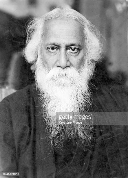 Portrait in the last 20 years of his life the Indian poet Rabindranath Tagore He received the Nobel Prize in Literature 1913