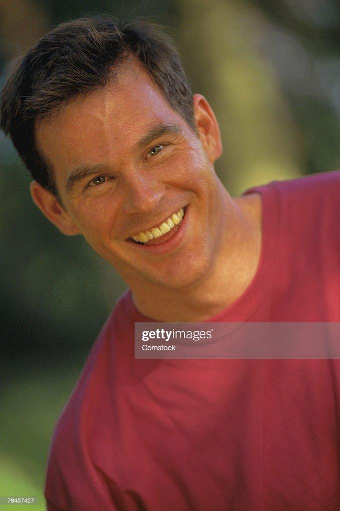 Portrait man outdoors : Stock Photo