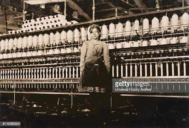 Portrait of 12yearold Girl at Cotton Mill Roanoke Virginia USA circa 1911