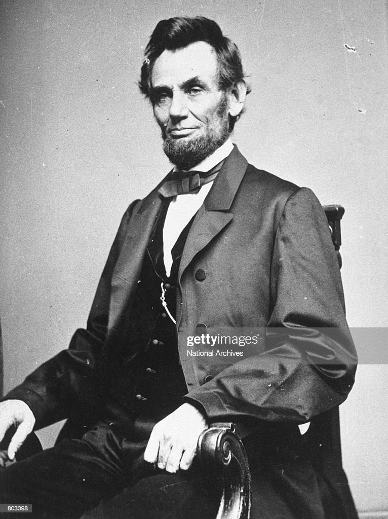 Portrait of 16th United States President <a gi-track='captionPersonalityLinkClicked' href=/galleries/search?phrase=Abraham+Lincoln&family=editorial&specificpeople=67201 ng-click='$event.stopPropagation()'>Abraham Lincoln</a>.