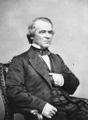Portrait of 17th United States President Andrew Johnson