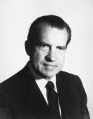 Portrait of 37th United States President Richard M Nixon