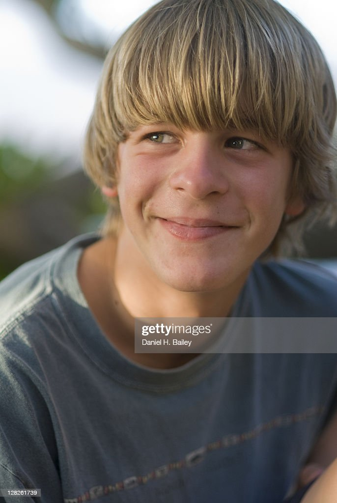 15 Year Boys Bedroom: Portrait Of A 15 Year Old Teen Boy Stock Photo