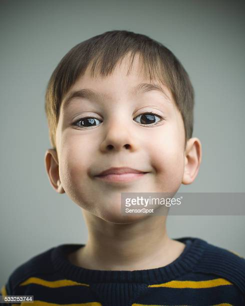 Portrait of a 4 years old boy with happy expression