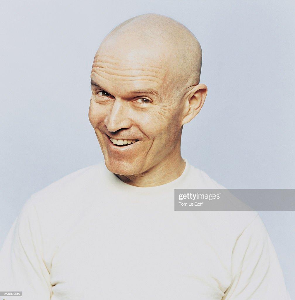 Portrait of a Bald Man : Stock Photo
