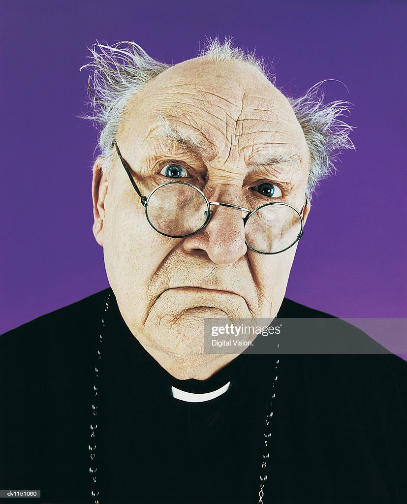 Portrait of a Balding Priest in a Habit