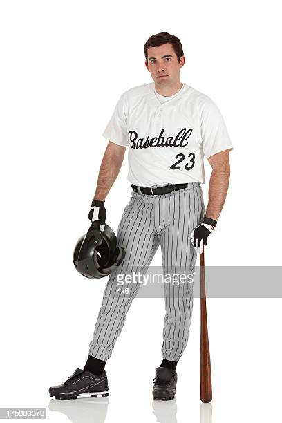 Portrait of a baseball player posing