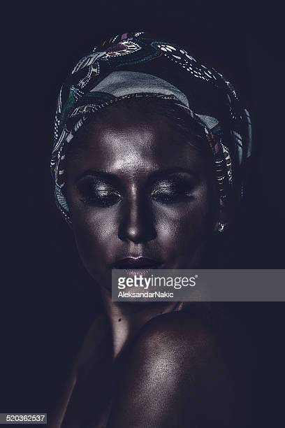 Portrait of a beautiful African-American woman