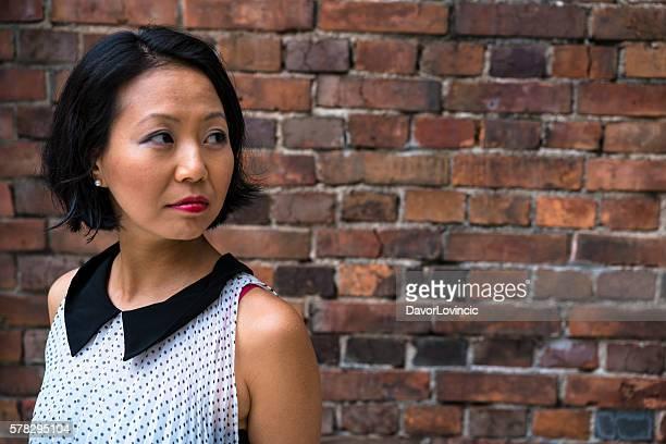Portrait of a beautiful Japanise woman in Kyoto, Japan.