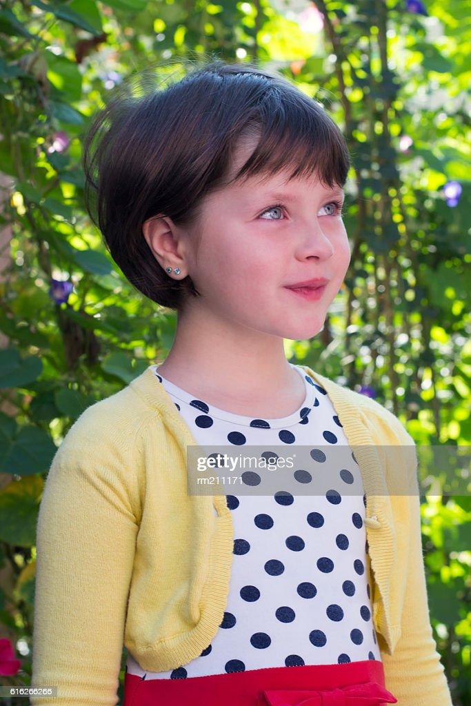 portrait of a beautiful little girl : Stock Photo