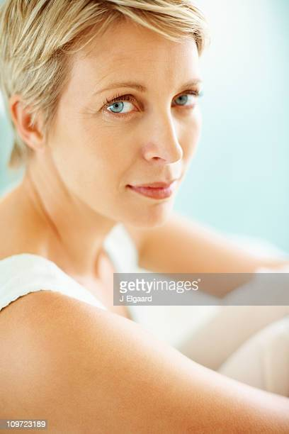 Portrait of a beautiful mid adult woman