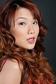 Portrait of a beautiful young Asian brunette woman